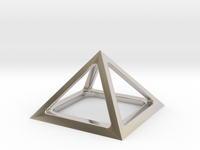 Pyramid of Cheops in Rhodium Plated Brass