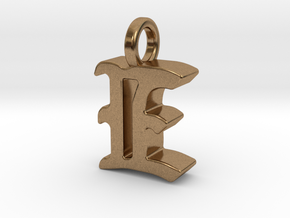 E - Pendant - 3 mm thk. in Natural Brass