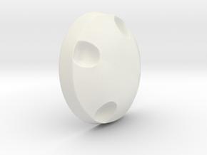 Poe helmet greeblie in White Natural Versatile Plastic