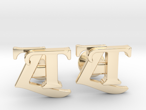 Monogram Cufflinks ZT in 14K Yellow Gold