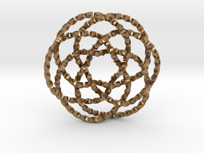 Rose knot 6/5 (Twisted square) in Natural Brass: Extra Small