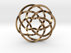 Rose knot 6/5 (Square) in Natural Brass: Extra Small