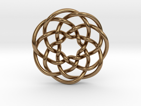 Rose knot 7/5 (Circle) in Natural Brass: Extra Small