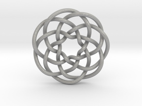 Rose knot 7/5 (Circle) in Aluminum: Extra Small