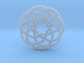 Rose knot 7/5 (Rope with detail) in Smooth Fine Detail Plastic: Extra Small