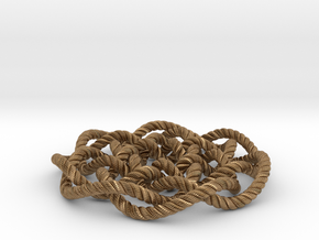 Rose knot 7/5 (Rope with detail) in Natural Brass: Medium