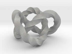 Trefoil knot (Twisted square) in Aluminum: Extra Small