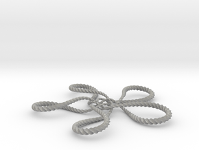 Turtle knot (Twisted square) in Aluminum: Small