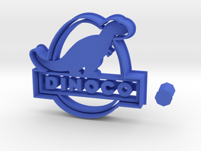 Dinoco Logo from Cars 3 Cookie Cutter + Handle in Blue Strong & Flexible Polished