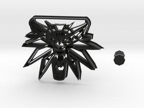 Witcher Logo Cookie Cutter + Handle in Black Natural Versatile Plastic