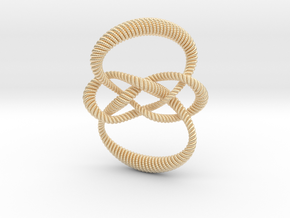 Carrick mat (Rope with detail) in 14K Yellow Gold: Small