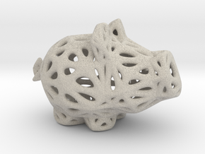 Sandstone Voronoi Lucky Pig by Xenyo in Natural Sandstone