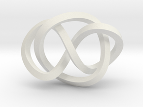 Whitehead link (Square) in White Natural Versatile Plastic: Extra Small
