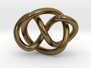 Whitehead link (Circle) in Natural Bronze (Interlocking Parts): Extra Small