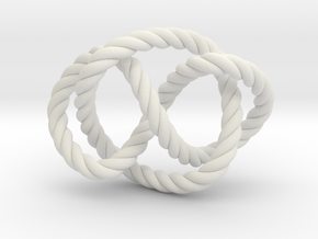 Whitehead link (Rope) in White Strong & Flexible: Extra Small