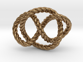 Whitehead link (Rope) in Natural Brass (Interlocking Parts): Extra Small
