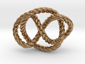 Whitehead link (Rope) in Polished Brass (Interlocking Parts): Extra Small