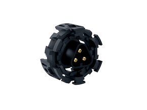 "HILT MT30 Connector Holder 7/8"" PLASTIC in Black Strong & Flexible"