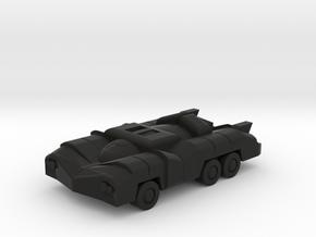 Six Wheeled Near Future Car  FREE DOWNLOAD in Black Natural Versatile Plastic