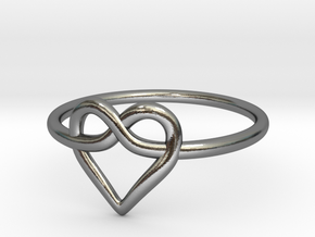 Infinity Love Ring  in Polished Silver: 5 / 49