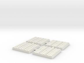 1/300 48 Cell Mk 41 VLS (x4) in White Natural Versatile Plastic