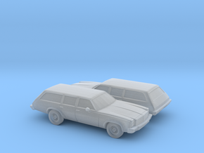 1/160 2X 1976-77 Chevrolet Chevelle Station Wagon in Smooth Fine Detail Plastic
