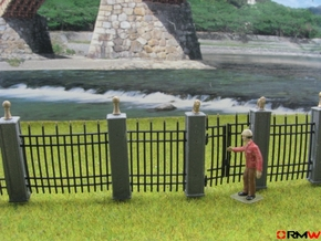 HO/1:87 Cemetery set 6 - fence kit in Smooth Fine Detail Plastic