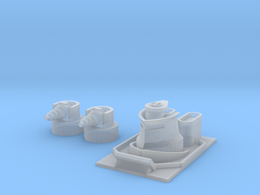 Pilger Class Frigate Bridge and Turrets in Frosted Ultra Detail