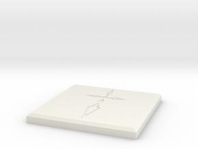 Fate/Zero Saber Command Seal Coaster in White Natural Versatile Plastic
