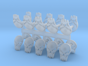 Chaos Renegade God Shoulder pad icons x20 in Smooth Fine Detail Plastic
