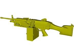 1/15 scale FN Fabrique Nationale M-249 Minimi x 1 in Smooth Fine Detail Plastic