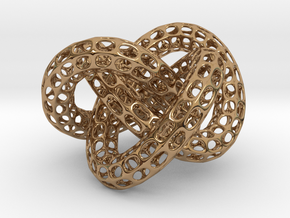 Webbed Knot with Intergrated Spheres in Polished Brass (Interlocking Parts)