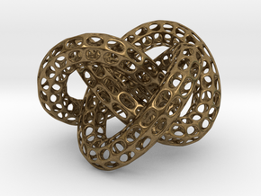 Webbed Knot with Intergrated Spheres in Natural Bronze (Interlocking Parts)