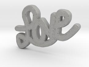 Love Pendant in Raw Aluminum
