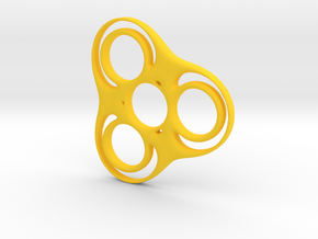 Trefoil Circle Spinner in Yellow Processed Versatile Plastic
