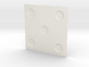 Cube Face 56 w Magnets (metric) in White Strong & Flexible Polished