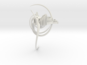 Nesting Spiral in White Natural Versatile Plastic