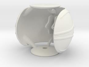 Golden Snitch Ring Box (Back) in White Natural Versatile Plastic