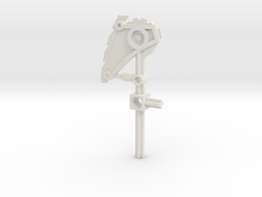 Bionicle weapon (Nuparu, set form) in White Natural Versatile Plastic