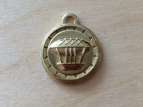 BlakOpal Airship Charm - small in Polished Brass