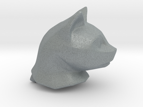 Cat Head Charm by Puybaret in Polished Metallic Plastic