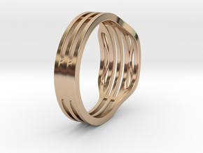Elegant Ring in 14k Rose Gold Plated Brass: 9 / 59