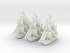 Light Frigate Squadron, 22 gun: 1/500 scale in White Natural Versatile Plastic