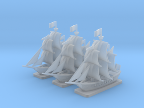 Light Frigate Squadron with bases, 22 gun: 1/500 s in Smooth Fine Detail Plastic
