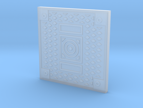 1:9 Scale Square Manhole Cover in Smooth Fine Detail Plastic