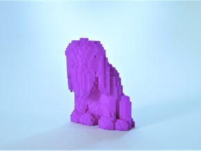 Illusory Sad Dog in Purple Processed Versatile Plastic