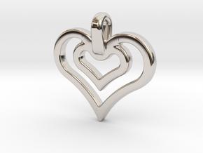 heart jewel in Platinum