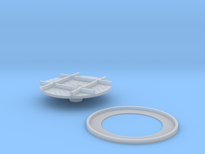 Narrow Gauge Turntable 5.5mm in Smooth Fine Detail Plastic