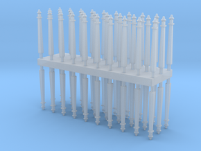 Electric pole type A - T Scale 1:450 60pcs set  in Smooth Fine Detail Plastic