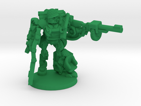 """Sarge"" - Allied WWII Mechanoid Miniature in Green Strong & Flexible Polished"